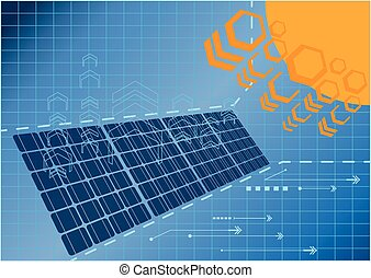 Solar cell power plant 01 - Solar cell power plant generate...