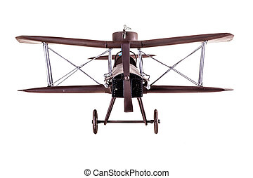 Airplane model front - an old metal airplane toy model...