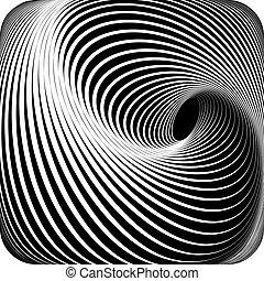 Abstract op art design. Vector art.