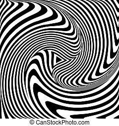 Torsion movement Op art - Torsion movement Op art abstract...