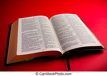 Open KIng James BIble - Open leather King James Bible...