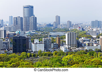 osaka city at day, japan