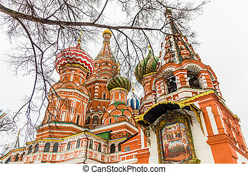 basilico, cattedrale,  ST,  Russia, mosca
