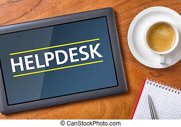 Tablet on a desk - Helpdesk