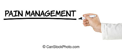 Hand with pen writing Pain Management