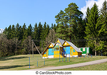 Biathlon base at the forest edge, Senno, Vitebsk region,...