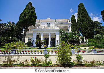 Achillion palace on Corfu island, Greece