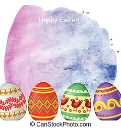 Decorative Easter background with eggs