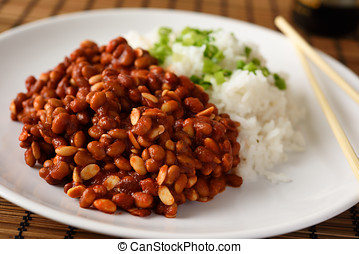 Soy beans and rice