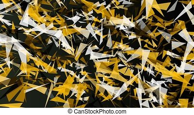 Abstract triangle in yellow and white color