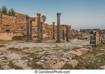 Umm Qais gadara romans ruins Jordan - Umm Qais gadara romans...