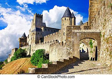 castles of France - Carcassonne - medieval castles of France...