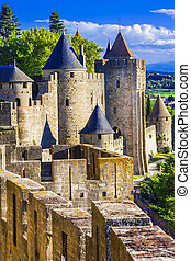 Carcassone fortress - Carcassone - biggest fortress in...