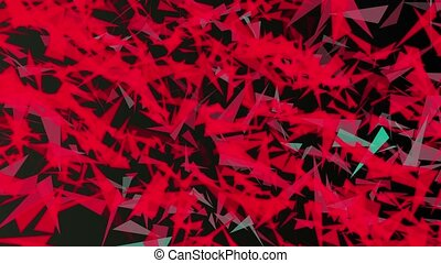 Abstract triangle in red color
