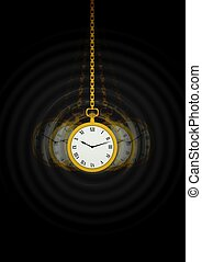 Hypnotists Pocket Watch - Illustration of a Hypnotists...