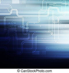 abstract technology network