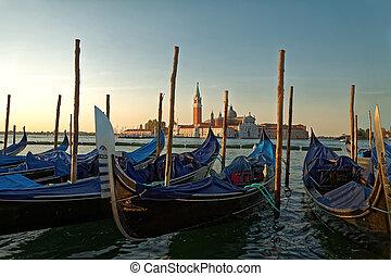 1, sommar, Venedig, morgon