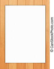 papel, en, madera, Plano de fondo,