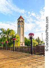 Clock Tower in Riverfront park, Spokane, Washington
