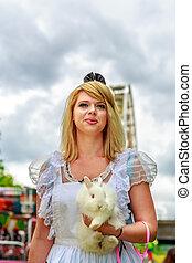 Alice in Wonderland - Attractive female model in Alice...