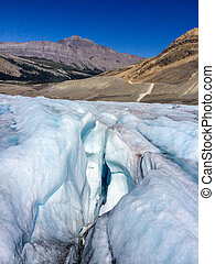 Athabasca Glacier - Typical Crevice Athabasca Glacier in...