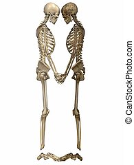 3 D Skeletons - Friends for ever - 3D Render of Skeletons