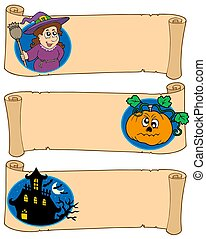 Halloween banners collection 5 - isolated illustration