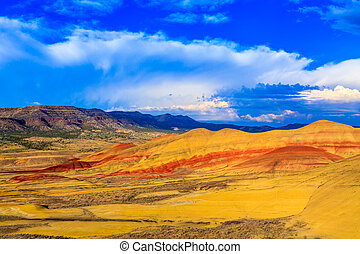 Painted Hills - Colorful painted hills at John Day Fossil...