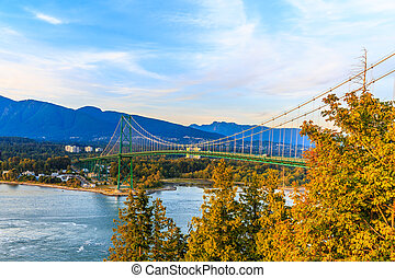 Lion Gate Bridge - Suspension bridge over Burrard...
