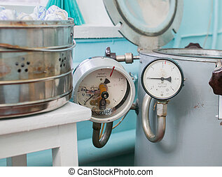 Autoclave in a medical lab - Image of an autoclave in a...