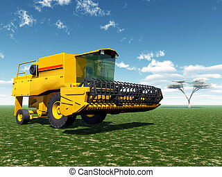 Harvester - Computer generated 3D illustration with a...