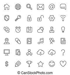 Thin Line Web Icons