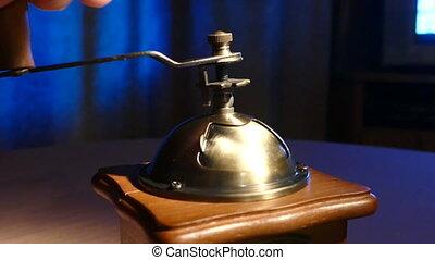 Manual coffee grinder dollie - Manual coffee grinder on a...