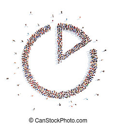 people in the form of interest. - A large group of people in...