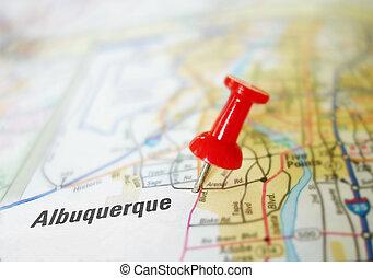 Albuquerque New Mexico - Map of Albuquerque New Mexico with...
