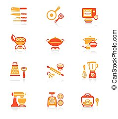 Cooking utensil icons || JUICY - Modern professional...