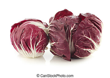 "red ""radicchio"" lettuce on a white background"