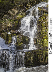 Waterfall at Sognefjord - Waterfall at Hella in the...