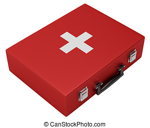 First Medical Kit Isolated on White Background