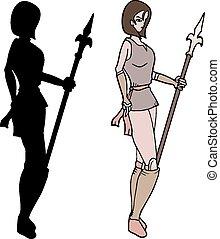 Shadow warrior woman - Creative design of Shadow warrior...