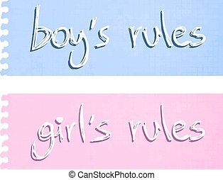 Boy and girl rules