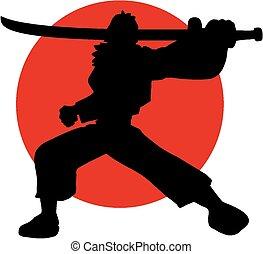 Japanese samurai - Creative design of Japanese samurai