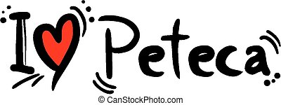 Peteca love - Creative design of Peteca love