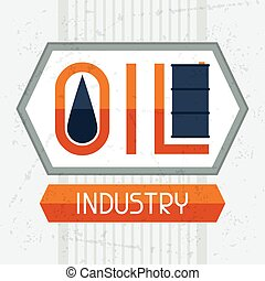 Oil industry background. Industrial illustration in flat...