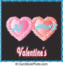 be mine valentine - happy valentines day with couple of...