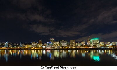 Time Lapse Of Portland Oregon City - Time Lapse Movie of...
