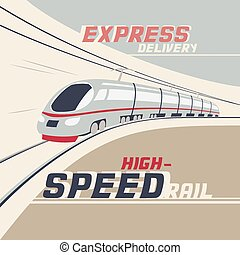 High-speed rail - Express delivery by high-speed rail...