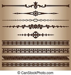 Decorative lines - Design elements - dividing lines and...
