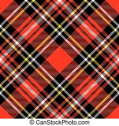 tartan plaid - Textured tartan plaid Seamless vector pattern...