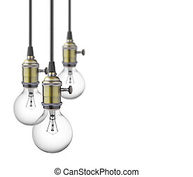 light bulbs - Vintage light bulbs isolated on white...